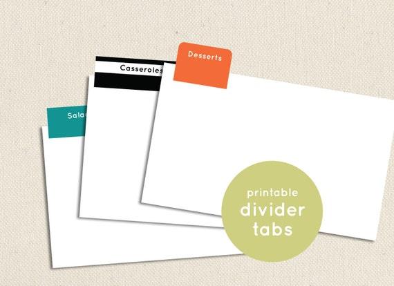 Printable and Editable Divider Tabs