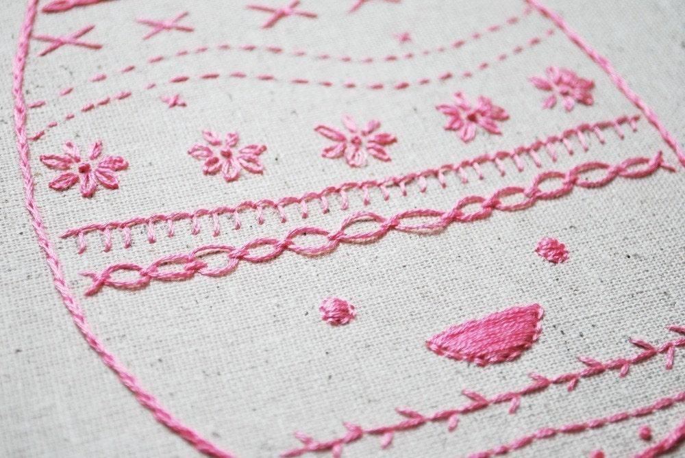 Easter egg sampler pdf mini hand embroidery pattern