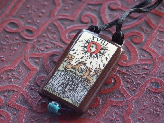 The Moon Tarot Pendant FREE SHIPPING to US addresses