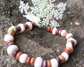 Mookite and Shell Bracelet