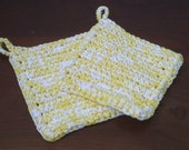 Kitchen Potholders- Yellows and White