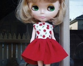 Cotton Cherry Dress for Blythe
