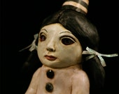 Cute Gothic Circus Girl Polymer Clay Sculpture