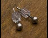 Angaret - 3mm Oxidized Sterling Silver Ball Stud Earrings