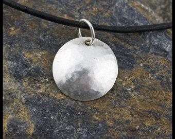 la mer pendant necklace - sterling silver hand-hammered necklace