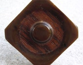 Wood You Vintage Button Ring