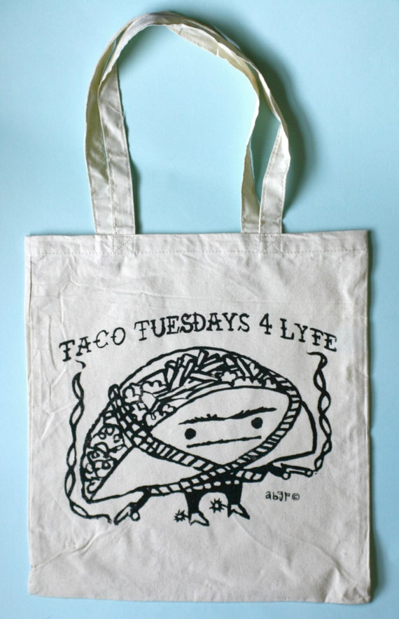 Taco Tuesdays 4 Lyfe Shopper Tote