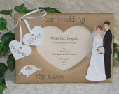 OUR WEDDING - personalized craft frame