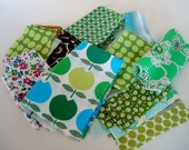 fabric Scrap Pack - greens