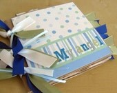 My Angel Baby Boy Premade Paperbag Scrapbook Album