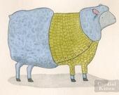 Sheep in Sweater digital art print