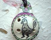 Majolica Folk Art Bird Flute