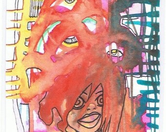 you don't wanna see my crazy side aceo original