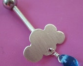Rainy Day Cloud Belly Ring
