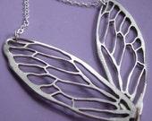 Double Cicada Lines Necklace