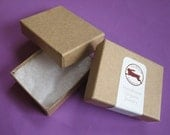 100 small Kraft cotton filled boxes