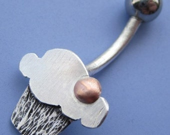Cupcake Belly Button Ring