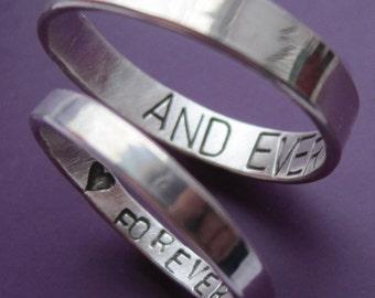 Inner Message Wedding Ring Set