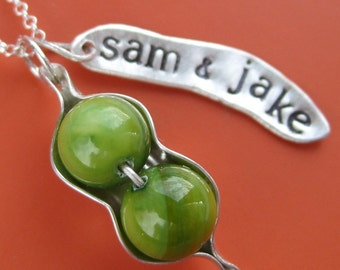 Personalized Peapod Necklace