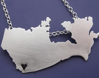 Canada Map Necklace