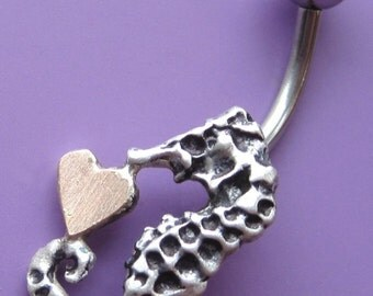 Seahorse Love Belly Button Ring