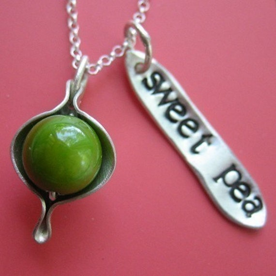 Sweet Pea Necklace RESERVED