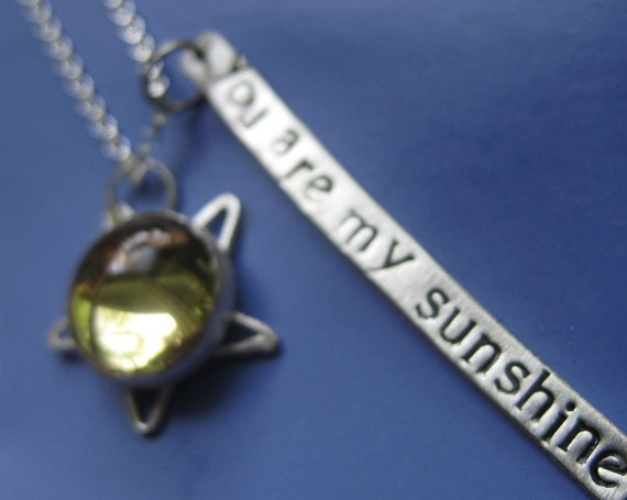 Citrine You Are My Sunshine Necklace