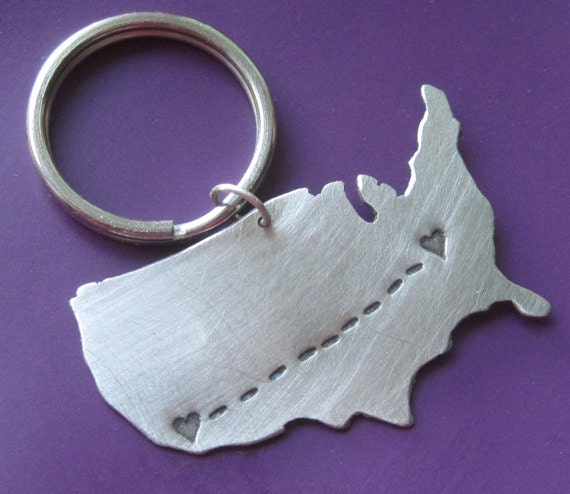 RESERVED Long Distance Love Keychain