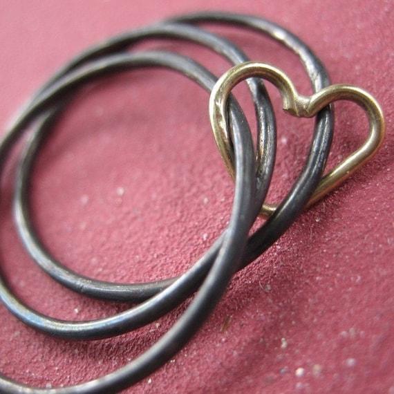 Triple Decker Heart Ring