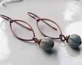 Caramel Drops-Czech Glass earrings