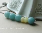 Lemon Ice- Amazonite and Candy Jade necklace