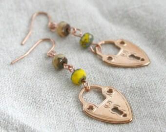 Lovely Locks padlock earrings