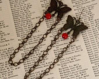 Butterflies long chain earrings sale