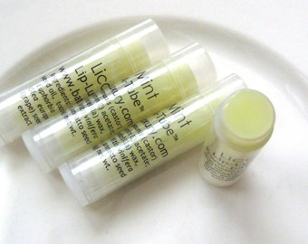 Licorice Mint Lip Balm -  herbal lip balm - Garden scent peppermint natural VEGAN and Unisex fresh scent