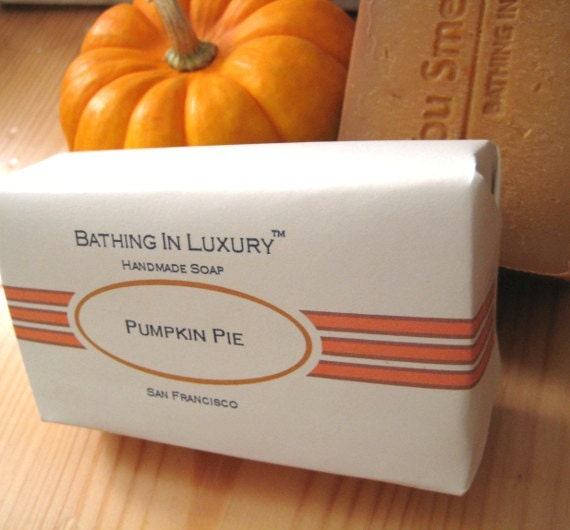 Pumpkin Pie Soap - Cold Process Soap - Pumpkin pie spice cinnamon - Pumpkin Pie soap