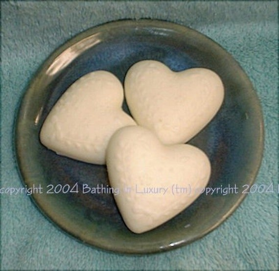 3 Heart Guest Soaps CUSTOM SCENT Goat's Milk or Shea Butter