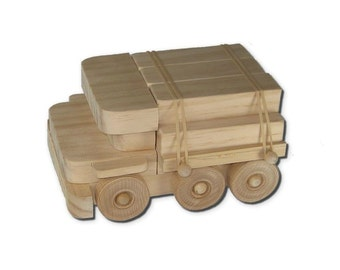 Wooden Toy Lumber Truck