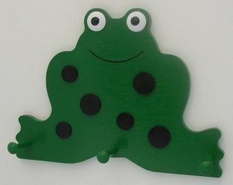 Froggie Frog Wall Peg Rack