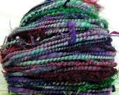 HandSpun Art Yarn merino wool DreamScape 71 yards Kitty Grrlz FunctionArt bulky art yarn