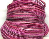 HandSpun Yarn merino wool tencel single ply Sakura 233 yards