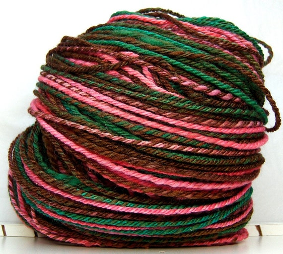 HandSpun Navajo 3ply Yarn merino wool silk Antoinette 186 yards 4.2 oz