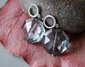 big gray crystal earrings