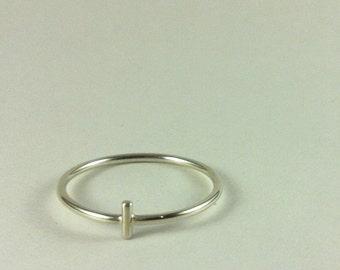 Cross Ring - Sterling Silver