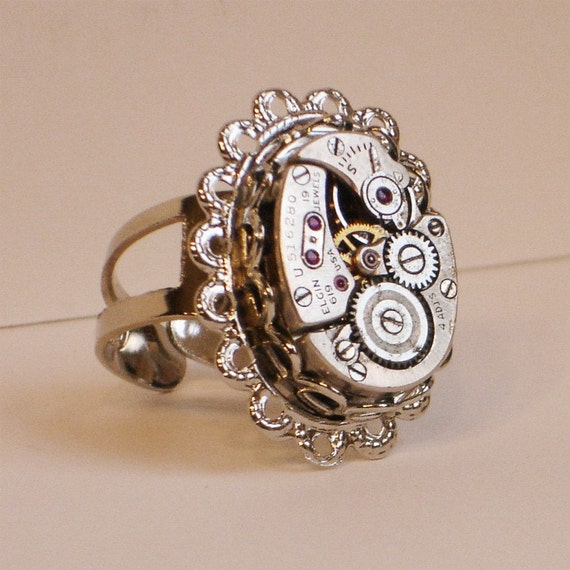 Kronos Path Ring (steampunk ring)