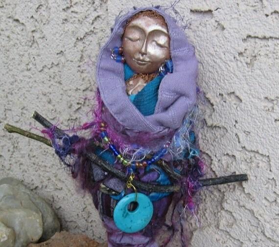 Avalon Moon Dreamer ...Healing and Magic,   Art Doll ooak