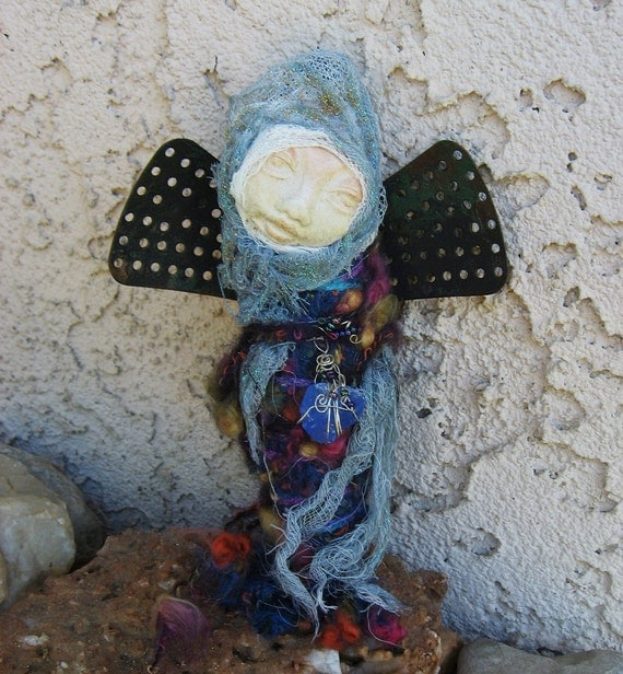 ARTIST SALE Moon Song, Creativity and Inspiration spirit art doll by Griselda
