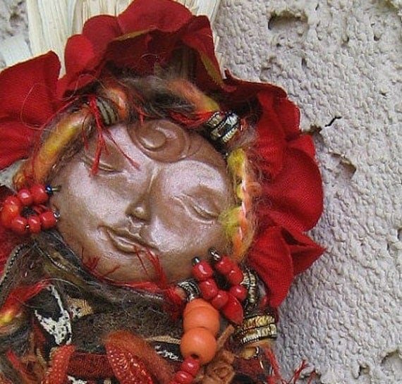 Zen Garden Spirit of Passion, Spirit Art Doll, Key to Intuition and Creativity ooak