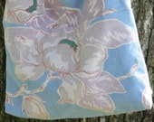 Vintage Tablecloth Over the Shoulder Tote With a Magnolia Floral Design