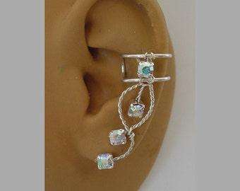Swarovski AB Rhinestone Ear cuff pair