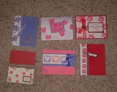 6 Handmade Valentine's Day cards made with Stampin Up supplies